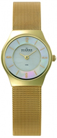 Buy Skagen Ladies Gold IP Watch - 233XSGG online