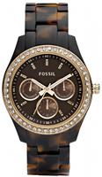 Buy Fossil Stella Ladies Resin Tortoiseshell Watch - ES2795 online