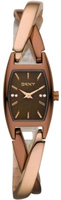 Buy DKNY Chocolate Ladies Two Tone Bangle Style Watch - NY8439 online