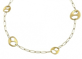 Buy Fossil Ladies Gold Tone Necklace - JF83703040 online