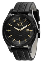 Buy Armani Exchange Mens Leather Watch - AX1091 online