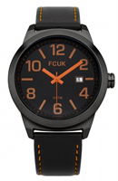 Buy French Connection Mens Leather Watch - FC1098BO online