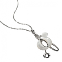 Buy Fossil Ladies Charm Necklace - JF85744040 online