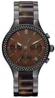 Buy DKNY Tortoiseshell Ladies Chronograph Watch - NY8668 online