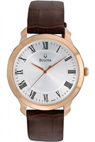 Buy Bulova Dress Mens  Rose Gold PVD Watch - 97A107 online