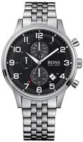 Buy Mens Hugo Boss Silver Chronograph Watch online