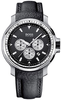 Buy Mens Hugo Boss Silver Chronograph Watch online