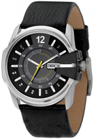 Buy Mens Diesel Casual Black Leather Watch online