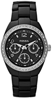 Buy Ladies Fossil Black Ceramic Watch online