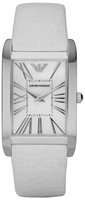 Buy Ladies Emporio Armani Super Slim All White Watch online