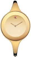 Buy Ladies Calvin Klein Gold Tone Mirror Watch online