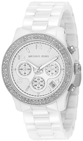 Buy Ladies White Michael Kors Ceramic Chronograph Watch online