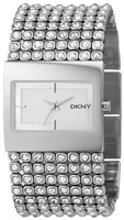 Buy Ladies Silver Dkny Stone Set Watch online