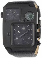 Buy Mens Diesel Super Bad Ass Chronograph Leather Strap Watch online