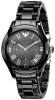 Buy Ladies Emporio Armani Black Ceramic Chronograph Watch online