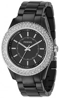 Buy Ladies Black Fossil Stella Watch online