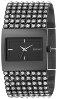 Buy Ladies Dkny Black Stone Set Watch online