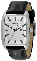 Buy Mens Dkny Leather Strap Watch online