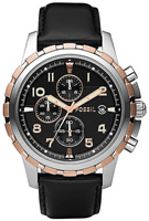 Buy Mens Fossil Black Dial Chronograph Watch online