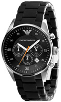 Buy Mens Emporio Armani Black Strap Watch online