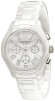 Buy Ladies Emporio Armani Ceramica Ceramic Chronograph Watch online