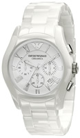 Buy Mens Emporio Armani Ceramica Ceramic Chronograph Watch online