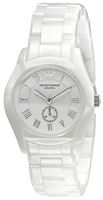 Buy Ladies Emporio Armani White Ceramic Watch online