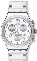 Buy Ladies Swatch Dreamwhite Chronograph Watch online