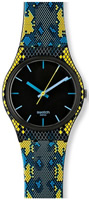 Buy Ladies Swatch Snaky Blue Watch online
