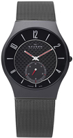 Buy Mens Black Lon Plated Titanium Skagen Watch online