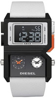 Buy Mens Diesel Black & White Advanced Ana-digi Watch online