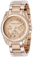 Buy Ladies Michael Kors Rose Gold Chronograph Watch online
