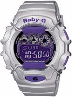 Buy Ladies Casio Baby G Alarm Silver Chronograph Watch online