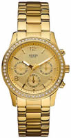 Buy Ladies Gold Tone Guess Chronograph Watch online