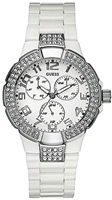 Buy Ladies White Guess Prism Watch online