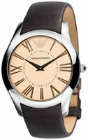 Buy Mens Brown Emporio Armani Super Slim Watch online