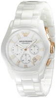 Buy Ladies Emporio Armani Fashion Ceramic Chronograph Watch online