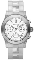 Buy Ladies Transparent Dkny Chronograph Watch online