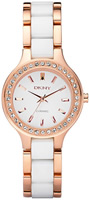 Buy Ladies White Dkny Ceramic Fashion Watch online