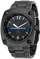Buy Mens Black Steel Diesel Watch online
