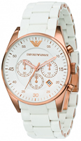 Buy Mens Emporio Armani White Chronograph Watch online