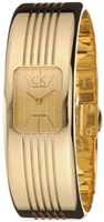 Buy Calvin Klein Gold Dial Gold-tone Stainless Steel Strap Bangle Watch online