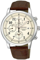 Buy Mens Seiko Cream Chronograph Watch online