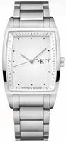 Buy Mens Calvin Klein White Bold Square Watch online