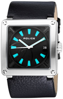 Buy Mens Police Black Stainless Steel Force Watch online
