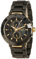 Buy Fossil Black Dial Black Stainless Steel Strap Mens Watch online
