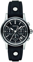 Buy Ladies Dkny Black Dial Chronograph Watch online