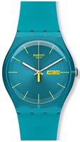 Buy Unisex Swatch Turquoise Rebel Watch online