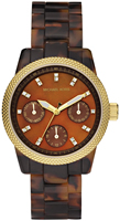 Buy Ladies Michael Kors Brown Plastic Watch online
