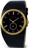 Buy Mens Skagen Gold Tone Leather  Watch online